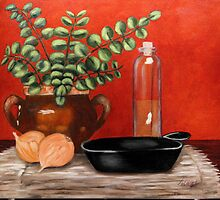 Bean Pot & Skillet by Anna  Holbert