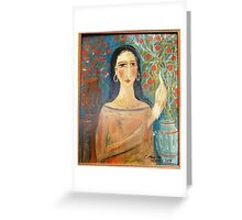 lady with clay jars Greeting Card