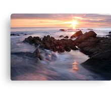 Sunset at Gunwalloe, Cornwall Canvas Print