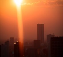 Sunset Over Tokyo by Chad M