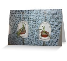 Unusual watering system Greeting Card