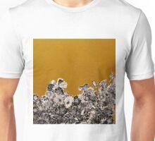Golden Ochre Woodcut Print Unisex T-Shirt