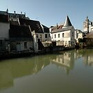 Indres River Reflections, Loches, France 2012 by muz2142