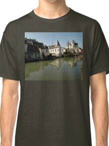 Indres River Reflections, Loches, France 2012 Classic T-Shirt