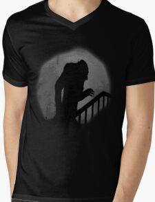 Nosferatu Silhouette Mens V-Neck T-Shirt