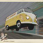 Vintage Air-Cooled Van Poster by mitchfrey