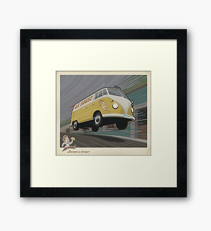Vintage Air-Cooled Van Poster Framed Print