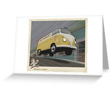 Vintage Air-Cooled Van Poster Greeting Card