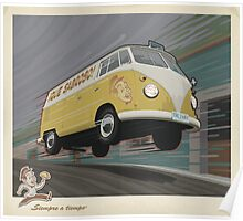 Vintage Air-Cooled Van Poster Poster