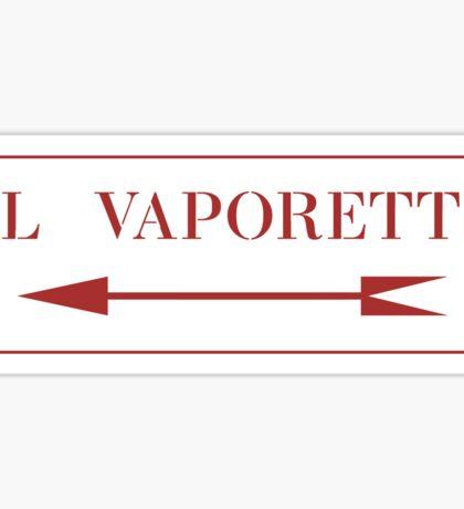 To Vaporetto, Venice Street Sign, Italy Sticker
