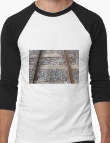 Steel Railway Tracks Men's Baseball ¾ T-Shirt