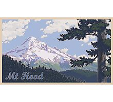 Vintage Mount Hood Travel Poster Photographic Print