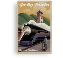 Vintage Union Train Station Canvas Print