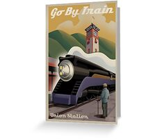 Vintage Union Train Station Greeting Card