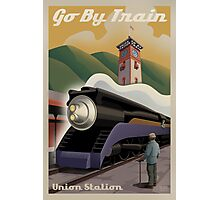 Vintage Union Train Station Photographic Print