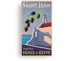 Vintage Greek Olive Oil Advertisement Canvas Print