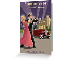 Vintage Dance and Car Show Greeting Card
