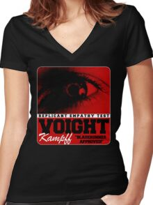 Voigt Kampf Replicant Empathy Test Women's Fitted V-Neck T-Shirt