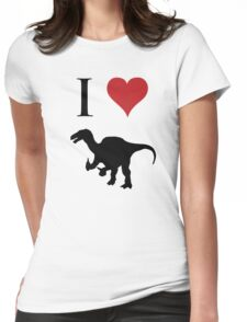 I Love Dinosaurs - Iguanodon Womens Fitted T-Shirt