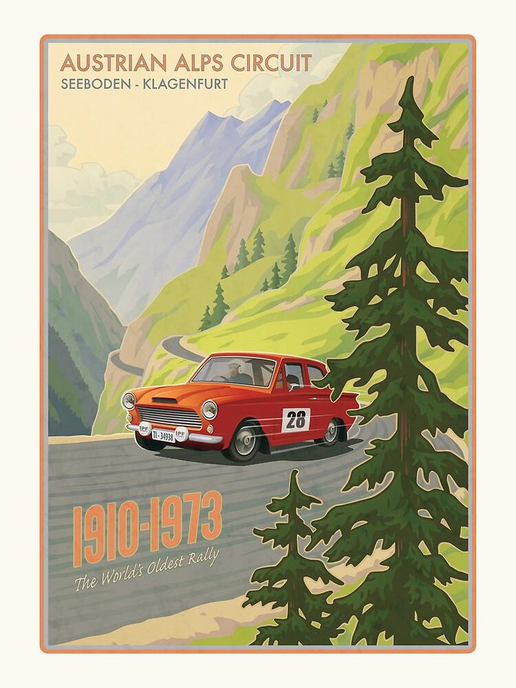 Vintage Austrian Rally Poster by mitchfrey