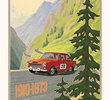 Vintage Austrian Rally Poster by mitchfrey