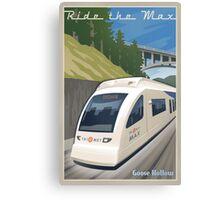 Vintage Max Light Rail Travel Poster Canvas Print