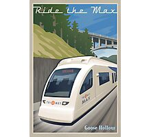 Vintage Max Light Rail Travel Poster Photographic Print