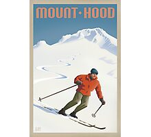 Vintage Ski Mount Hood Travel Poster Photographic Print