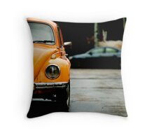 half of yellow diablo Throw Pillow