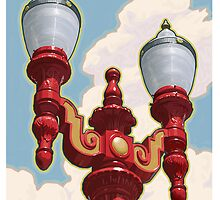 Chinatown Street Light in Portland, Oregon by mitchfrey