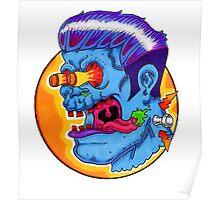 Freaky Frankie (Blue Variant) Poster