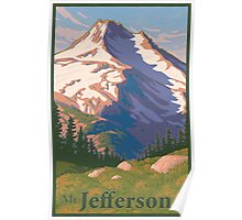 Vintage Mount Jefferson Travel Poster Poster
