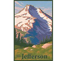 Vintage Mount Jefferson Travel Poster Photographic Print