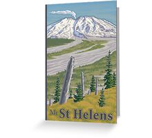 Vintage Mount St. Helens Travel Poster Greeting Card
