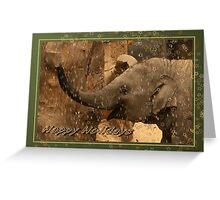 Little elephant stars - Happy Holidays Greeting Card