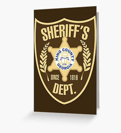 King County Sheriffs Department Greeting Card