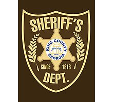 King County Sheriffs Department Photographic Print