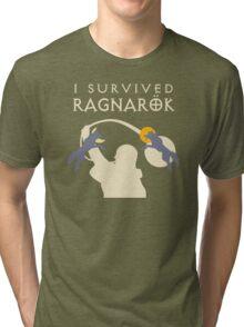 I Survived Ragnarok (Wolves) Tri-blend T-Shirt