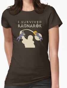 I Survived Ragnarok (Wolves) Womens Fitted T-Shirt