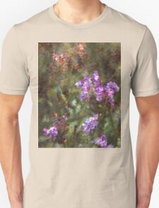 Color drops from a flower Unisex T-Shirt
