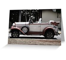 Classic Old Convertible Car Greeting Card