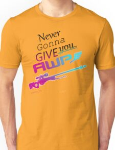 Counter-Strike    Never Gonna Give You AWP Unisex T-Shirt