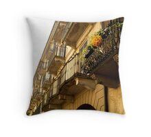 Como Vista near the Duomo Throw Pillow