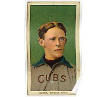 Benjamin K Edwards Collection Johnny Evers Chicago Cubs baseball card portrait 002 Poster