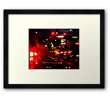 Lonely Glow Framed Print