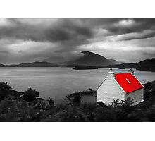 Bright Red Roof Photographic Print