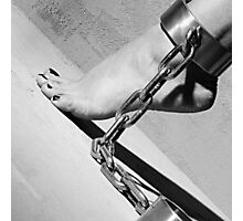 Shackled feet Photographic Print