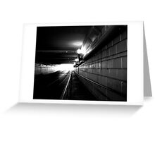 Tunnel Vision 2 Greeting Card
