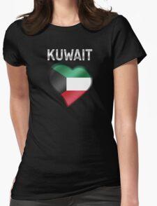 Kuwait - Kuwaiti Flag Heart & Text - Metallic T-Shirt