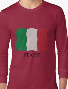 Italian flag Long Sleeve T-Shirt